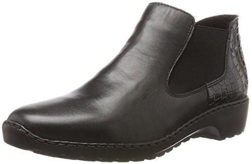 Rieker Damen L6090 Chelsea Boots, Schwarz (Schwarz/Nero), 42 EU
