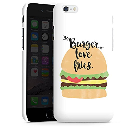Apple iPhone X Silikon Hülle Case Schutzhülle Burger Fastfood Essen Premium Case matt