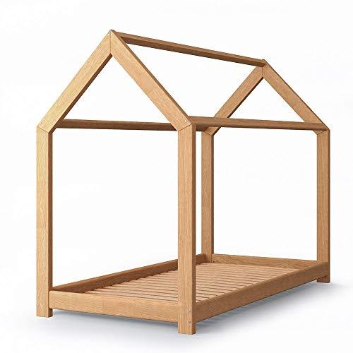 VitaliSpa Kinderbett Jugenbett Kinderhaus Bett Kinder Holz Haus Schlafen Spielbett Hausbett - lackiertes Massivholz - kindgerechte Verarbeitung