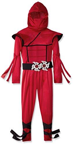 Stealth Ninja Costume Child: Red (Kostüm Jungen Ninja Stealth)
