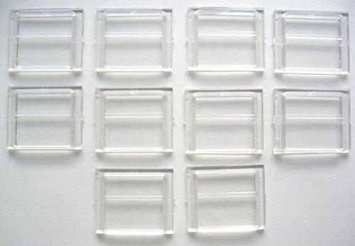 Preisvergleich Produktbild LEGO CITY - 10 seltene SCHEIBEN für Eisenbahn - Fenster in transparent