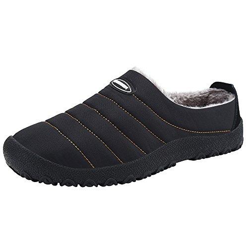 SPEEDEVE Plüsch Pantoffeln Wärme hausschuhe Winter Baumwolle Rutschfeste Slippers Outdoor Indoor Haus Gefütterte Hausschuhe für Damen Herren