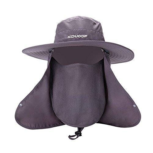 Kostüm Newsboy Kappe (Unisex-Anti-Sandsturm-Anti-Mosquito-Abbau hat Bucket Hüte Sport Outdoor Fishing Bergsteigen Cap,Dark)