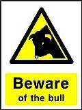 Beware of the Bull Landschaft & Landwirtschaft Hinweisschild Vinyl Aufkleber Best auf eBay