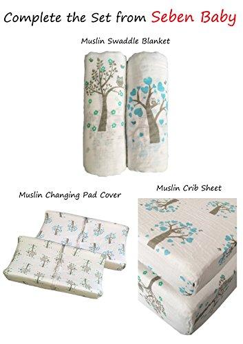 Musselin Wickeltücher 2Pack–Seben Baby–119,4x 119,4cm Unisex–für Jungen oder Mädchen–lebenslange Garantie