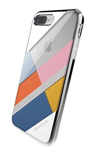 X-Doria Schutzhülle für iPhone 7 Plus (Scene) TPU und transparentes Polycarbonat, Transparent Silver