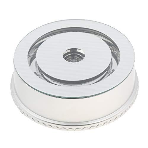 Almencla Drehteller Spiegeloberteil Mit Drehbarer Basis Und USB Stromversorgung Und Farbigen LED Leuchten -