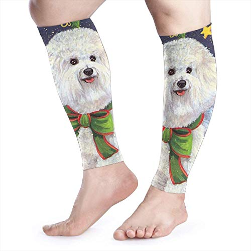 Christmas Angel White Shih Tzu Hund Cool Running Home Workout Sport Gym Zubehör Waden-Kompressionsmanschette Beinaufsätze Laufen Halbfußschutz Schutz -
