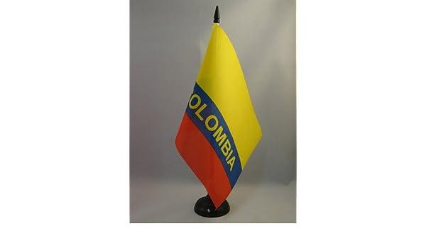 Piccola BANDIERINA Colombiana 14 x 21 cm AZ FLAG Bandiera da Tavolo Colombia 21x14cm