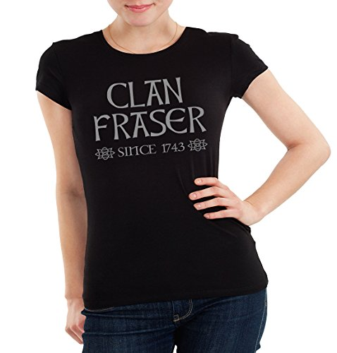 Getting Shirty Clan Fraser Since 1743 (Inspired by Outlander) Women's  T-Shirt, Black, Large