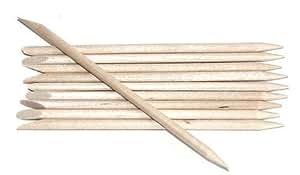 Orange Wood Orangewood Sticks Stick Cuticle Pushers Pointed & Bevelled Ends x 50 pcs by Boolavard