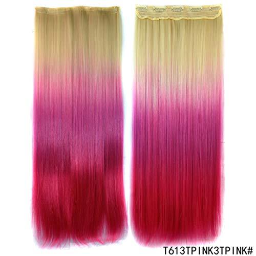 Gerade Haarspange In Einem Stück 5 Clips Haarverlängerung 24
