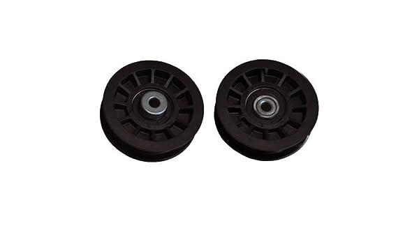 Puleggia a gola adattabile AYP piatta H: 25,4 mm alesaggio: 9,5 mm diametro: circa 89 mm ricambio originale: 165936.