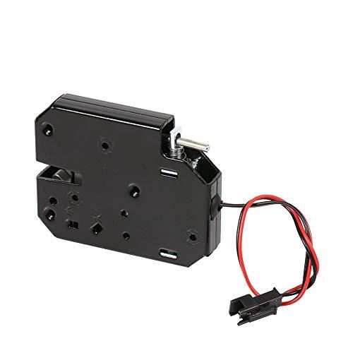 Garosa Elektroschloss Mini 12 V 2A Elektromagnetisch Schublade Schließfächer Intelligente Kohlenstoffstahl Schwarz Latch für Schloss Sicherheitssystem