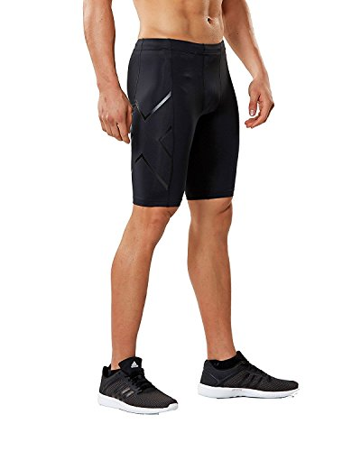 2x u Herren Core Compression Shorts M Black/Nero