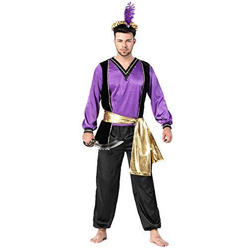 LOLANTA Desert Prince Kostüm für Erwachsene Herren Arabian King Kostüm (Für Erwachsene Desert Prince Kostüm)