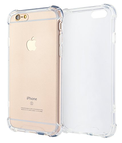 MyGadget Clear TPU Silikon Hülle Eckenschutz für Apple iPhone 6s Plus 6+ Crystal Case - Extra Stoßfest & Robust Bumper Schutzhülle Cover in Transparent Apple Iphone Crystal Case