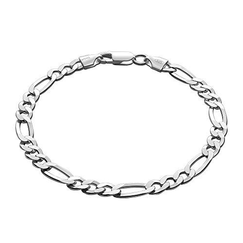 STERLL Herren Armband Silber 925 20cm Schmucketui Geburtstag Geschenk für Männer