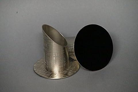 Kerzenhalter / Kerzenständer, Silber ; für Tauf- und Kommunionkerzen, 4 cm ; M-39
