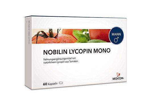 NOBILIN LYCOPIN Kapseln (6 mg) mit Tomatenextrakt als Mono oder Multivitamin Produkt mit Vitamine A + E - Antioxidantien gegen freie Radikale (60 Kapseln)