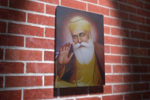 Guru Nanak Dev Ji Sikhism Religion Gallery Framed Canvas Art Picture Print