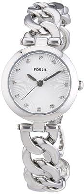 Fossil 0 - Reloj de cuarzo para mujer, con correa de acero inoxidable, color plateado