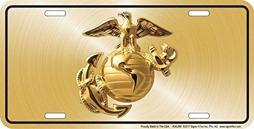 Embossed Metal Signs and Gifts Geprägter Metall-Schilder und Geschenke Marines Officer -