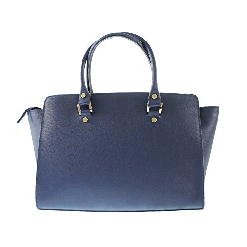 CTM Woman's elegant handbag, italian genuine leather made in Italy with handles and shoulder belt 32x24x17 Cm