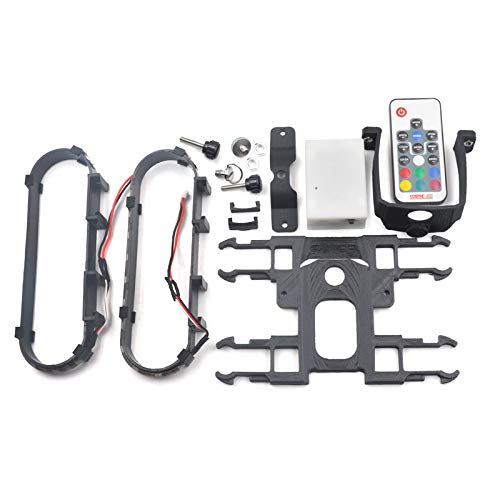 Fcostume RC Car, Rüsten Sie RGB-LED-Licht-dauerhafte Fahrwerk-Schutz für DJI Mavic 2 Pro/Zoom Drone auf (Schwarz)