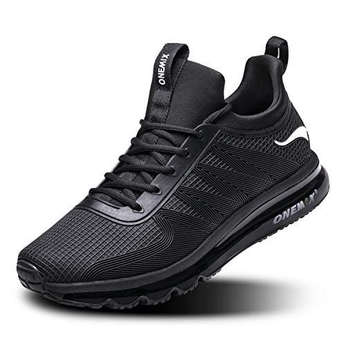 ONEMIX Scarpe da Ginnastica da Uomo Corsa Sportive Fitness Running Sneakers Basse Interior Casual all'Aperto 1191 Black 39