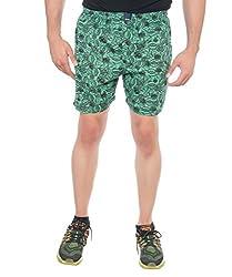 Abony Men's Green Printed Boxer Short