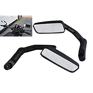 Black Rectangular Aluminium 8mm/10mm Universal Motorcycle Motorbike Scooter Mirrors