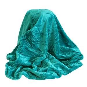 linens limited berwurf decke faux fur aus kunstfell blaugr n 150 x 200 cm. Black Bedroom Furniture Sets. Home Design Ideas