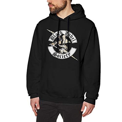Gusonhur Herren Sweatshirt Black Label Society Druck Sweatshirtst Black Black Für Männer Mode Hooded Sweatshirt (Label Jean Black Herren)