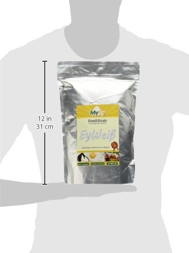MyEy EyWeiß, Eiweiß-Ersatz, vegan, natürlich & voll aufschlagbar, mit pflanzlichen Proteinen, glutenfrei, 1er Pack (1 x 1 kg) - 5