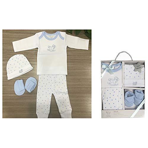 Duffi Baby 0631-12 - Set de regalo estampado, 5 piezas, 0-6 meses