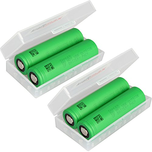 4er Pack Sony Konion US18650VTC6 18650 Akku - Li-Ion/3,7V/30A/3120mAh - US18650 VTC6 in litriX Box für 18650 Akkus