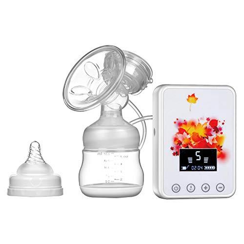 Elektrische Milchpumpe Doppelte elektrische Milchpumpe Nachfüllbarer digitaler LCD-Bildschirm, elektrische Milchpumpe für Massage und Saugen