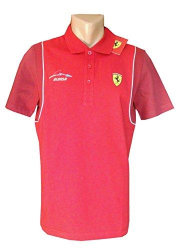 ferrari-formula-1-mens-santander-alonso-maglietta-polo-rosso-uomo-rosso-l