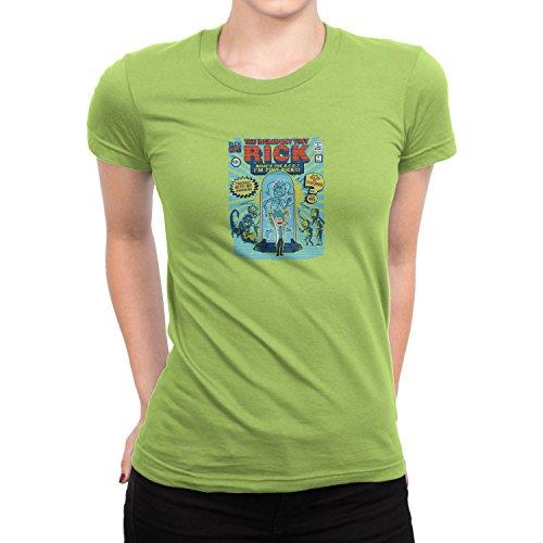 Planet Nerd - Incredible Tiny Rick - Damen T-Shirt Kiwi
