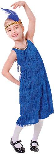 Bristol Novelty CC468 Flapper Kleid, Blau