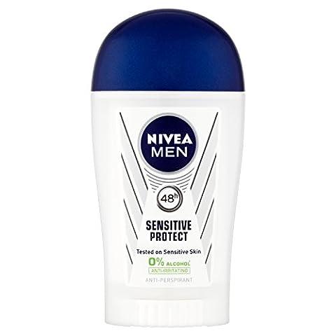 Nivea Men Sensitive Protect 48 Hours Anti-Perspirant Deodorant Stick, 40 ml - Pack of 6