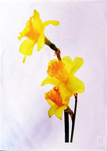 Yellow Daffodils Cotton Tea Towel -