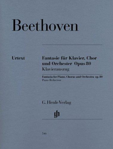Fantasie C-Moll Op 80  Klav Gch Orch. Klavierauszug