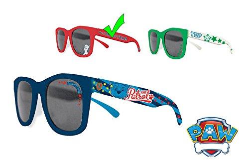 """Pat patrouille - Gafas de sol infantiles, diseño de """"La patrulla canina"""", color rojo, tamaño talla única"""