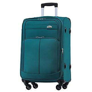 BEIBYE – Maleta de Viaje con Ruedas de Tela Turquesa Turquesa Kleiner Koffer