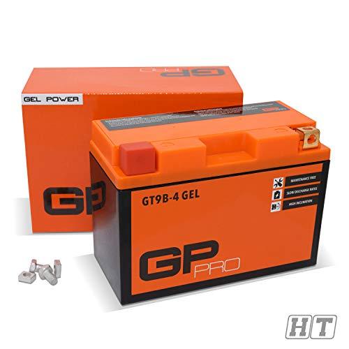 GP-PRO GT9B-4 12V 8Ah Gel-Batterie(Ähnlich YT9B-BS / CT9B-4) (Wartungsfrei/Versiegelt) Akkumulator Motorrad Motorradbatterie