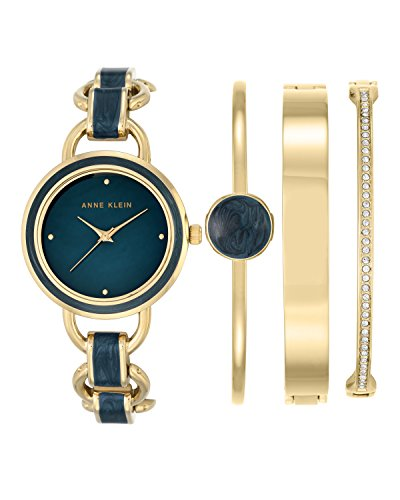 anne-klein-womens-evelyn-quartz-watch-with-mother-of-pearl-dial-analogue-display-and-blue-other-stra
