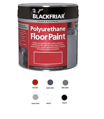 Blackfriar-Vernice per pavimento in poliuretano, per interni ed esterni, 5 l, colore: grigio chiaro
