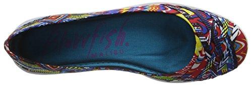 Blowfish  Glo,  Damen Ballerinas Multicolor (Black Bali Print)
